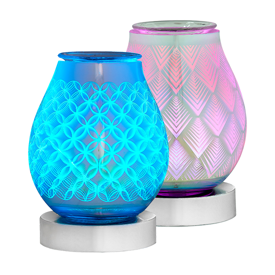 Two 3D Oil Warmers