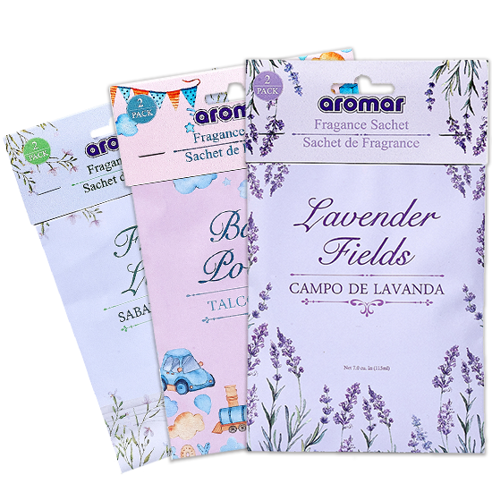 Wholesale Three 2-Pack Scented Sachets