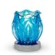 Glass Petal Touch Oil Warmer Blue