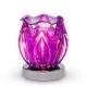 Glass Petal Touch Oil Warmer Purple